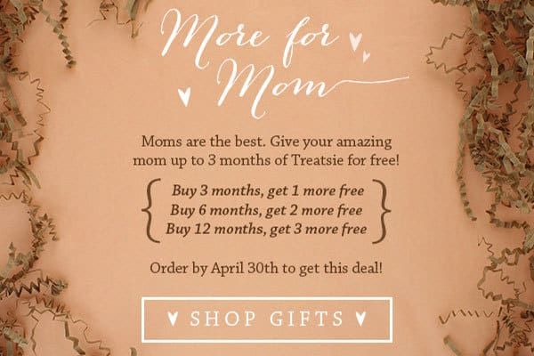Get up to 3 Free Months of Treatsie with New Subscriptions