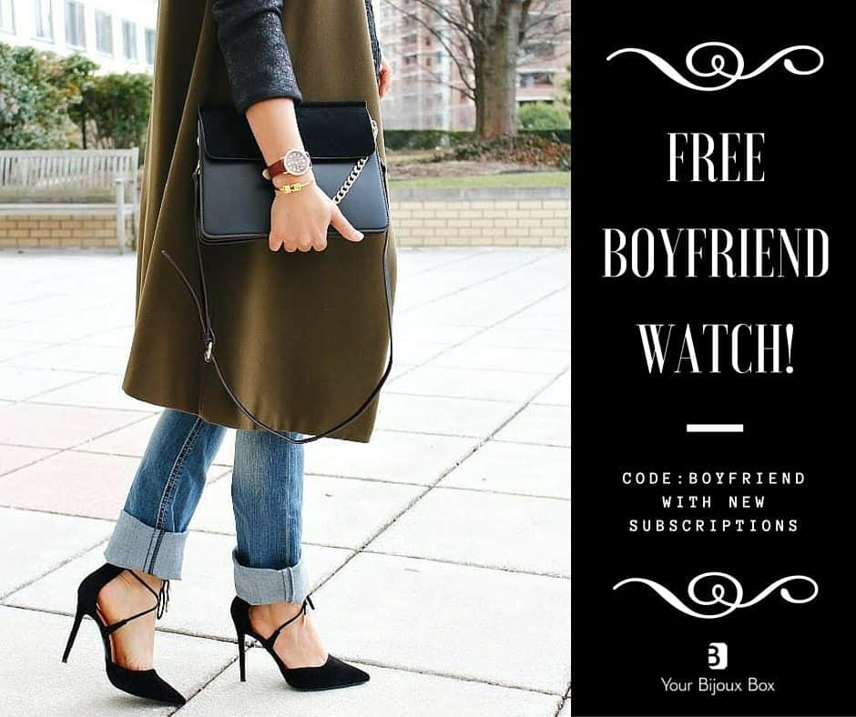 Your Bijoux Box - Free Boyfriend Watch with New Subscriptions