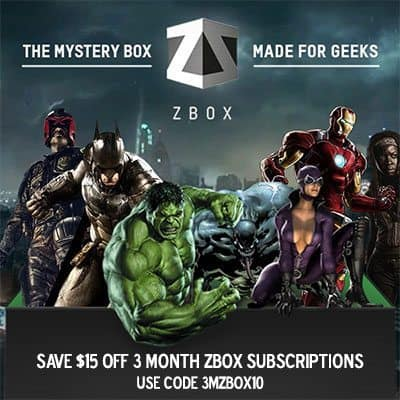 $15 Off ZBOX 3 Month Subscriptions