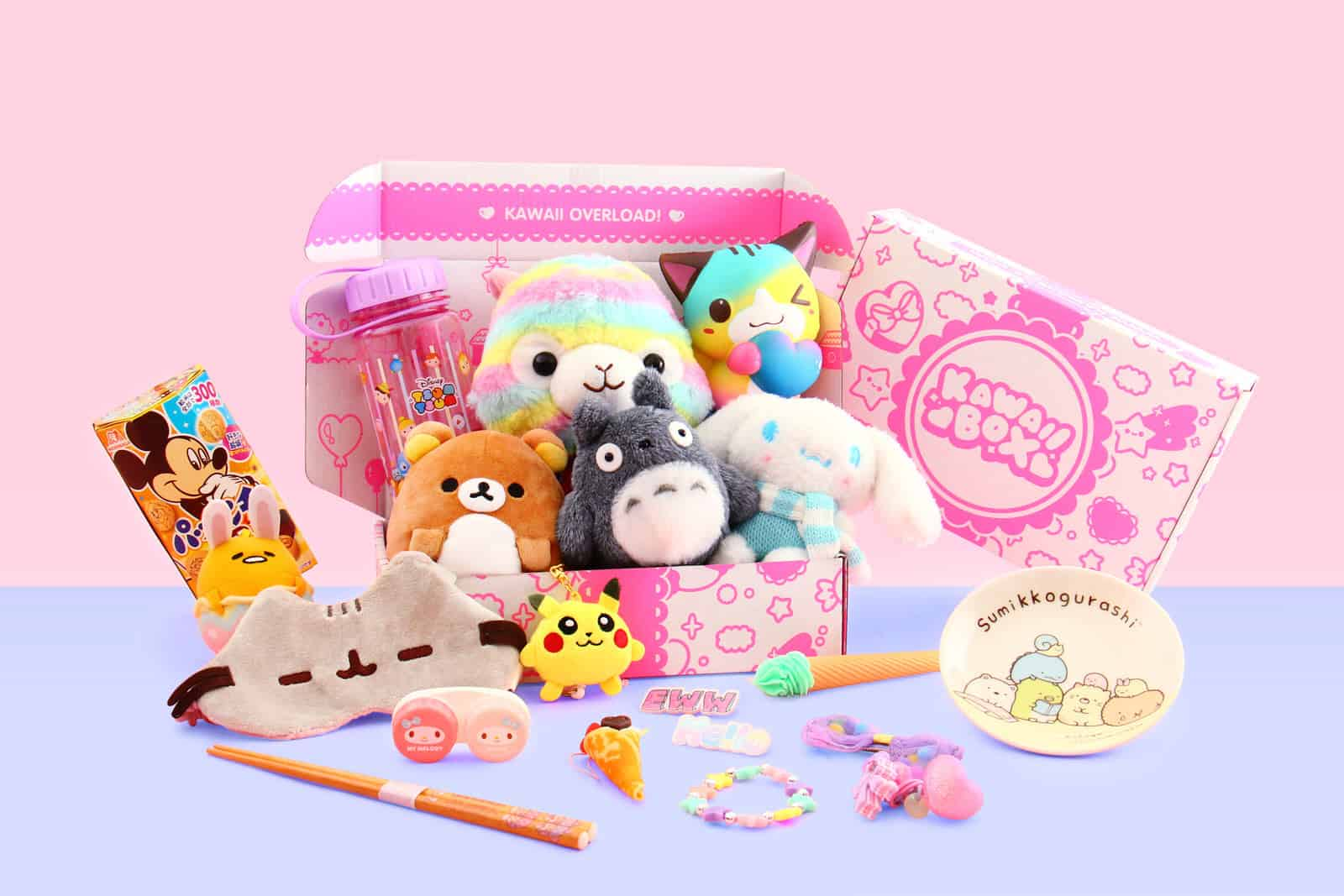 Image of: Japanese Each Monthly Mystery Box Is Filled With Super Cute Things Ranging Kawaii Stationery Cute Squishies Kawaii Plushies More Gdpictureus Kawaii Box Find Subscription Boxes